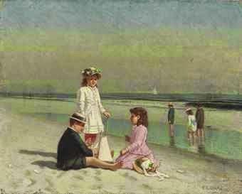 Samuel Carr (1837-1910), Παιδιά στην παραλία. Ιδιωτική Συλλογή.
