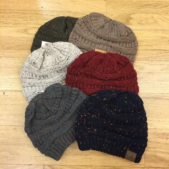 Speckle CC Beanie Speckle CC Beanies have been #restocked    Let me know what color you would like and I will make you a list for one.   this listing is not for sale Detailsonlineboutique Accessories Hats