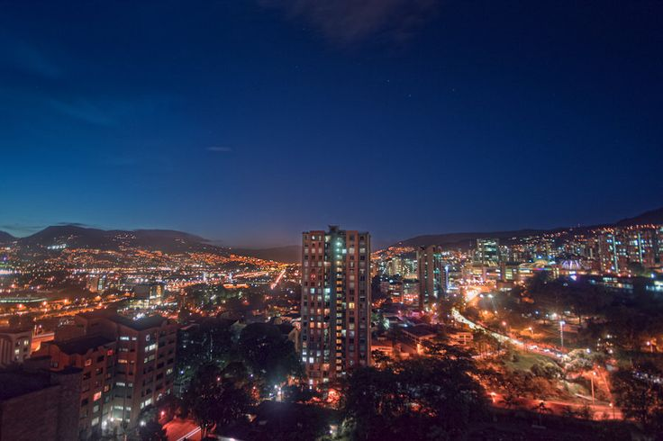 Beautiful Medellin, Colombia at night.  #beautiful #colombia #nightlife