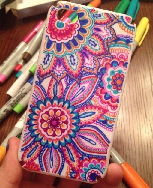DIY sharpie phone case