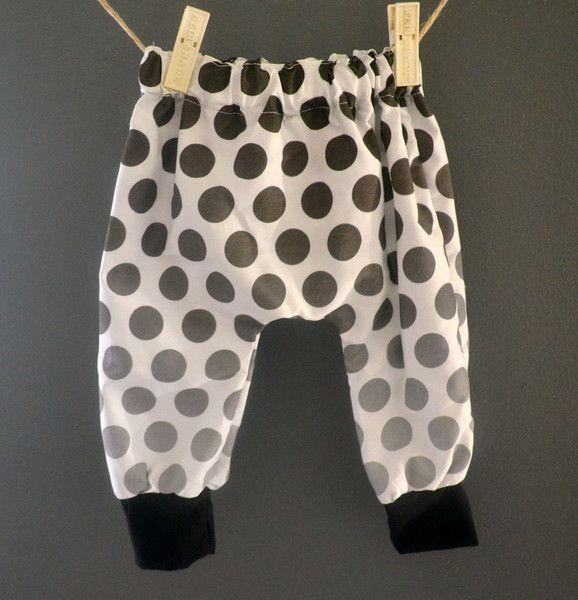 2 tones spots Harem Pants