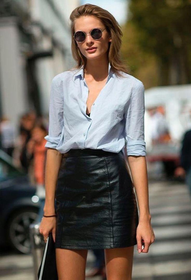 Estos 12 Looks Demuestran Que Una Pollera De Cuero Es Todo Lo Que Necesitas | Cut & Paste – Blog de Moda