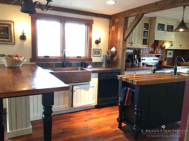 (KitchenT, Pic 8 Of 14) Using Reclaimed Wood From Dismantled Barns, Our Custom  Kitchen Team Handcrafted And Installed The Flooring, Cabinetry, ...