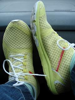 New Balance Minimus Zero road shoe.  Minimal running shoes that rock!