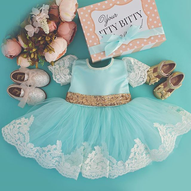 "Princess Julia Dress in Mint!  Shop: ittybittytoes.com (search ""Julia"") We Ship Worldwide ✈️"