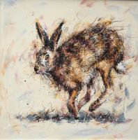 March Hare by Ruby Keller. www.framemakersgalleries.com