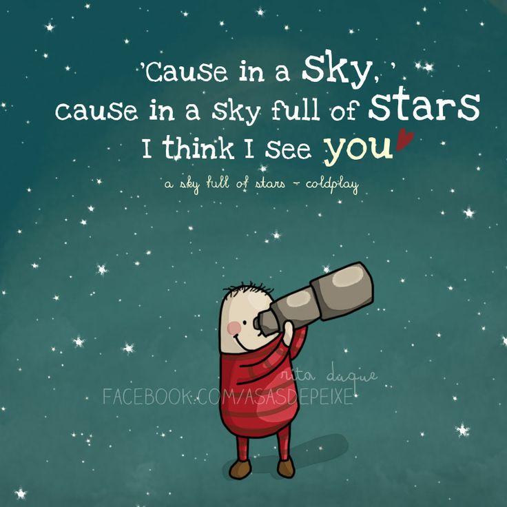 Coldplay by Rita Duque | Facebook.com/asasdepeixe