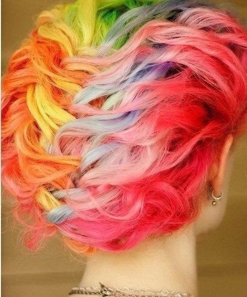 Rainbow braid.