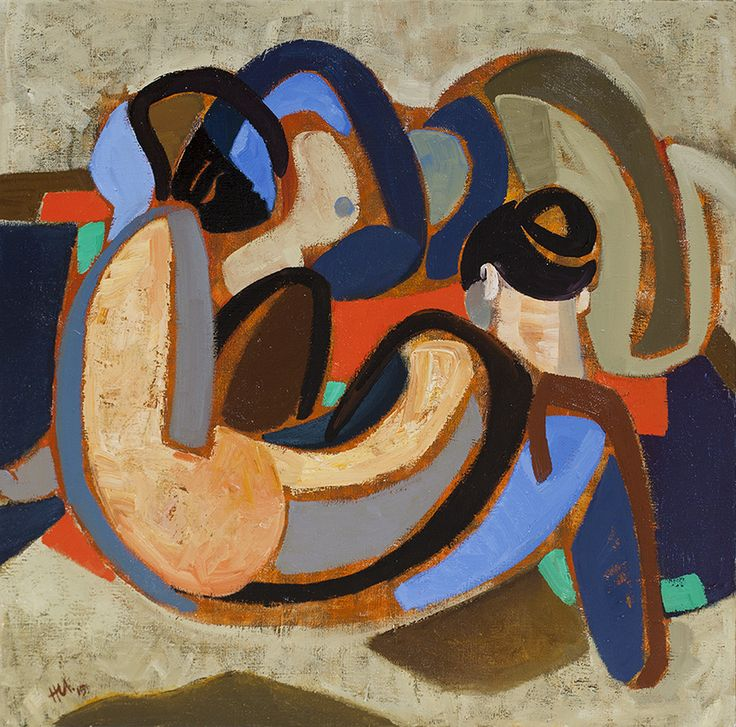 hennie niemann jnr 'figure composition'  81 x 80 cm 2015
