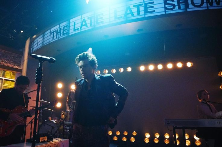 "And on the first night of #LateLateStyles, @harrystyles melted everyone's faces with a searing rendition of ""Sign of the Times."" Link in bio!"