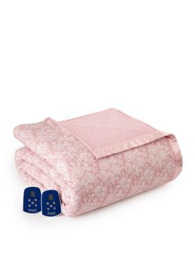 Micro Flannel Men's Enchantment Rose Electric Heated Comforter/Blanket - Enchantment-Rose - Queen