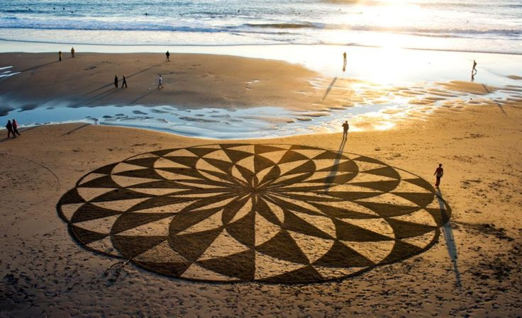 When viewed from above, the magnitude of the sand drawings can really be seen.