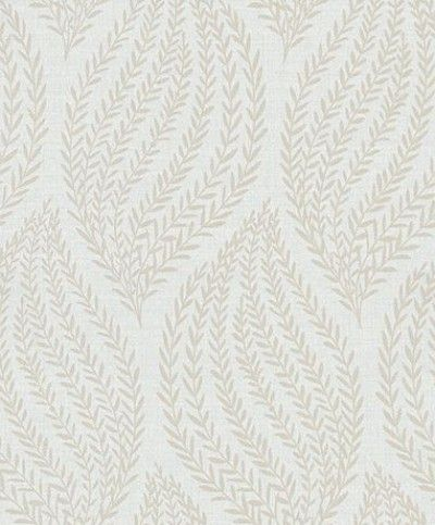 Naturale Glitter Leaf (68501) - Albany Wallpapers - A beautiful elegant leaf design created using small trailing leaves. Shown in cream with glittery silver detail creating a bright and reflective look.  Please request a sample for true colour match. This is a paste the wall product.