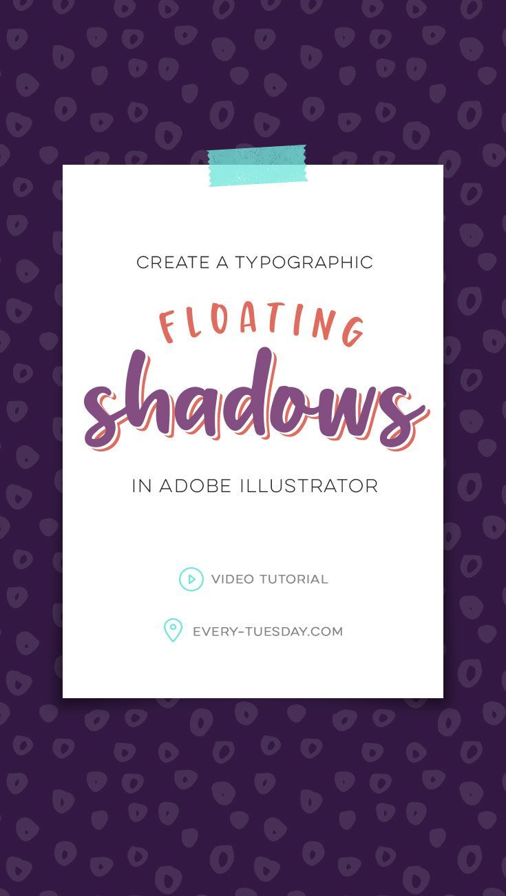 Create typographic floating shadows in Adobe Illustrator | video tutorial: every-tuesday.com via @teelac