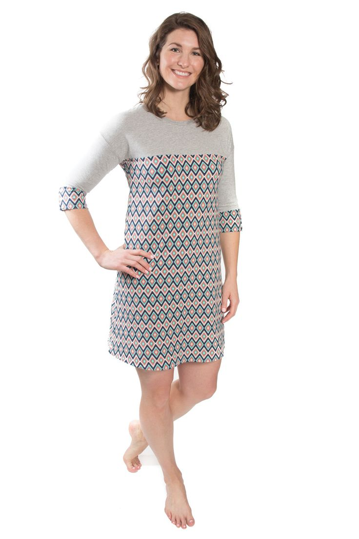 The Marianne sewing pattern by Christine Haynes is the perfect casual knit dress for every wardrobe. Its figure skimming silhouette and kimono cap sleeves make this an easy garment to dress up or down. Get yours on Indiesew for $14.