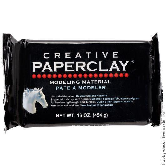 Декупаж и роспись ручной работы. Ярмарка Мастеров - ручная работа. Купить Paperclay Creative (Паперклей креатив). Handmade. Белый, клей