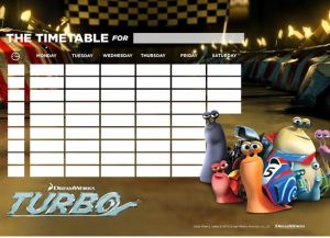 Turbo Activity Sheets - The Timetable