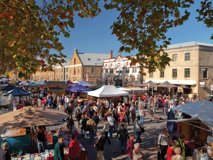 Salamanca Market, Hobart, Tasmania. Photo by Tourism Tasmania