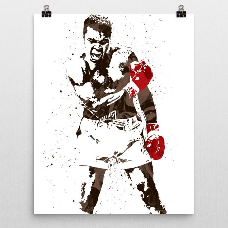 Muhammad Ali poster. Ali was an American Olympic and professional boxer and activist. He is widely regarded as one of the most significant and celebrated sports figures of the 20th century. From early