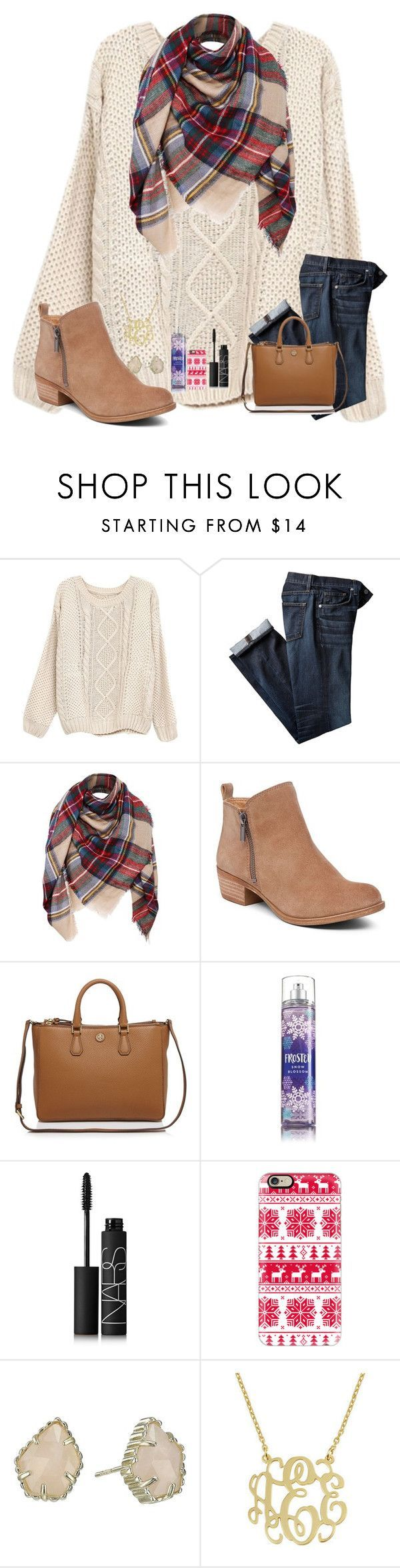 """Pumpkin Farm (Day 1)"" by mae343 ❤ liked on Polyvore featuring Lucky Brand, Tory Burch, NARS Cosmetics, Casetify, Kendra Scott and mattisfallcontest"