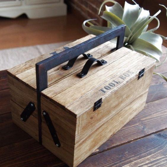 100均のすのこ、木箱、フォトフレームを使ってTOOLBOX(工具箱)をDIYしました♪ 家の中で普段使うごちゃごちゃしたもの(筆記用具、はさみ、のり、爪切り、耳かき等)を 4つの箱にきちんと仕分けして収納出来ます。 フォトフレームに箱と箱をつなげて持ち手にしました。 ちょっぴり男前に仕上げました。 このTOOLBOX自体インテリアと馴染むので、出しっぱなしにしていても大丈夫です♪