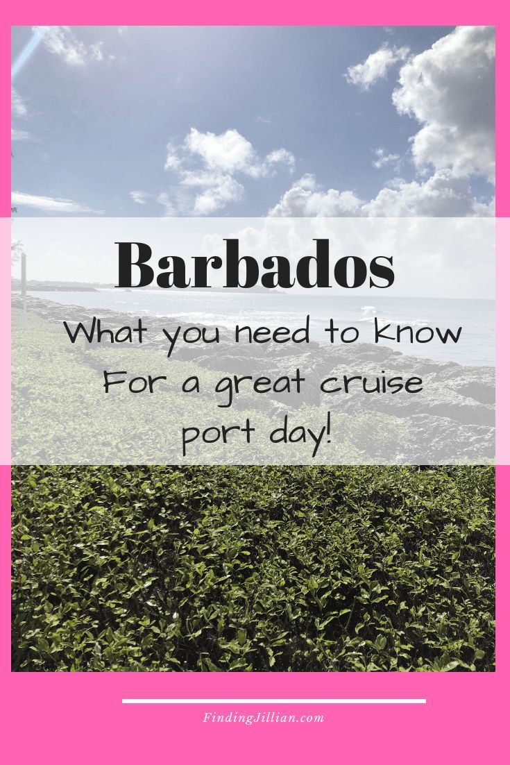 A Cruise Port Day In Barbados Cruise Port Cruise Cruise Travel