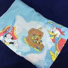 Vtg WALT DISNEY fitted bed sheet TWIN Mickey Minnie Donald Duck Pluto(288)