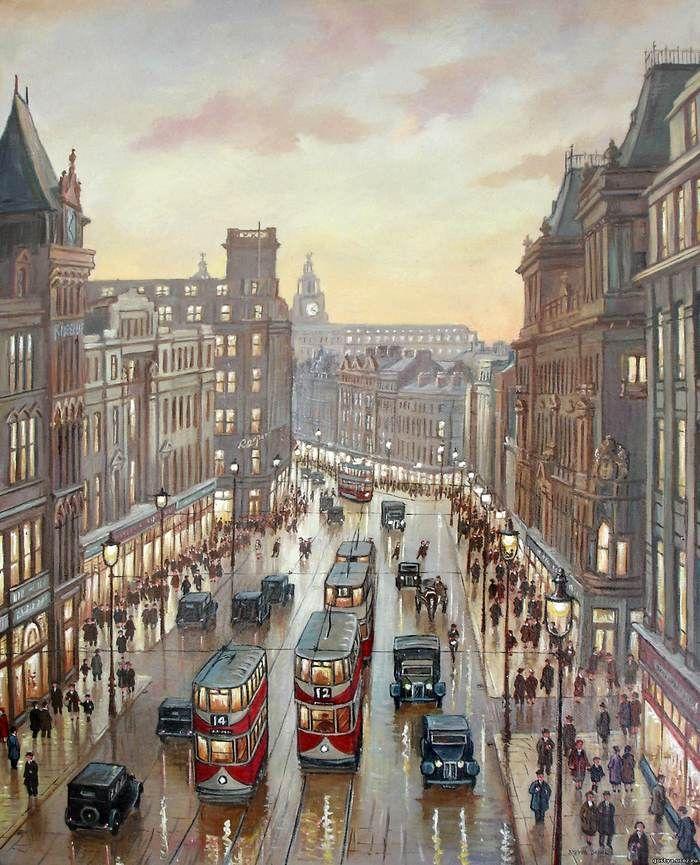 """Steven Scholes, """"Church Street, Liverpool 1934"""""""