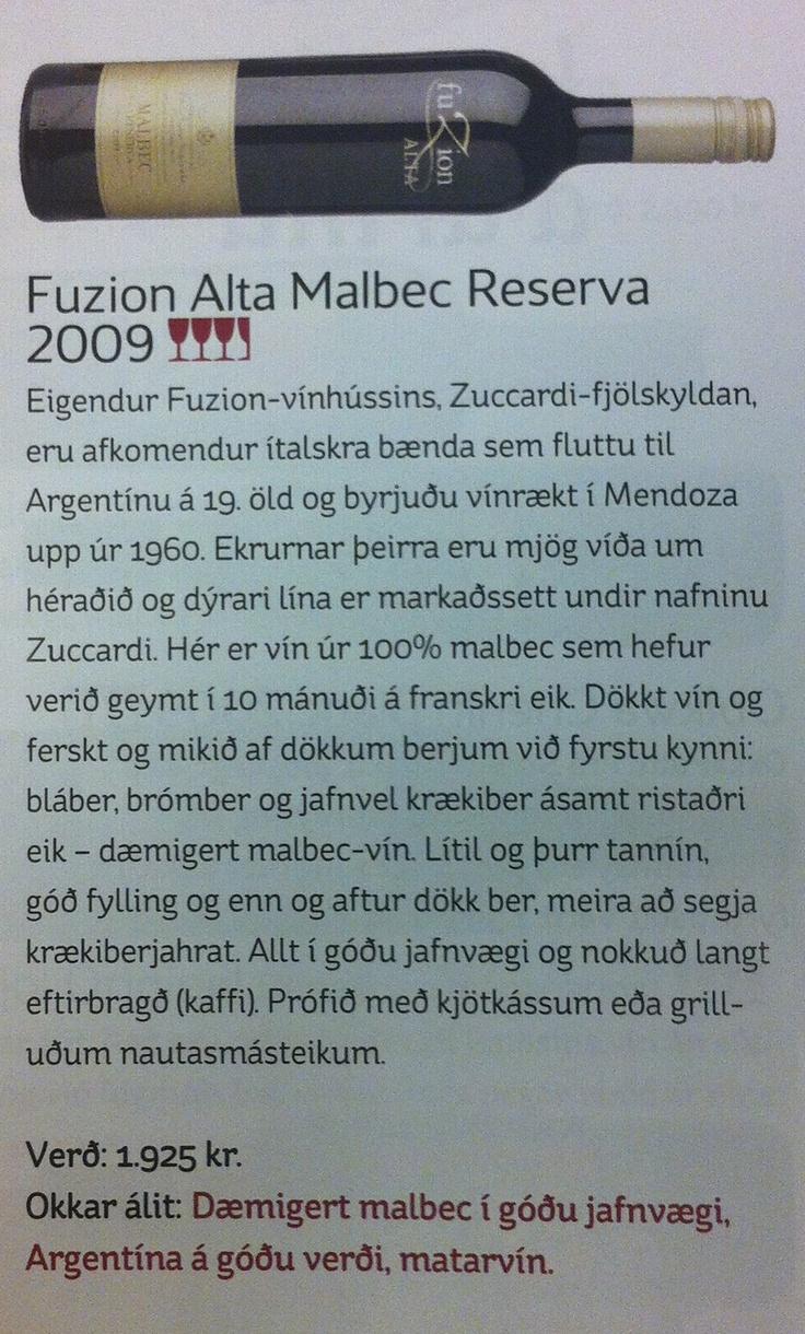 Fuzion Alta Malbec Reserva