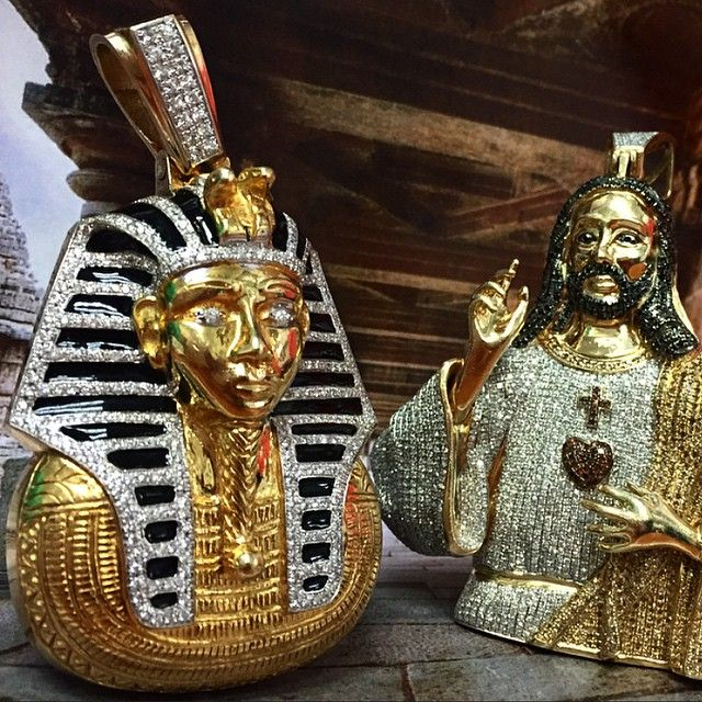 29 best religious cult orders jewelry images on pinterest pharaoh 14k yellow gold pendant with black diamonds jesus diamond pendant mozeypictures Images