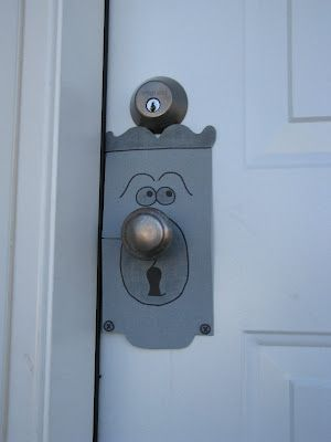 Alice in Wonderland Birthday Party decorations. All were fun and cheap to make, but I especially loved this doorknob guy