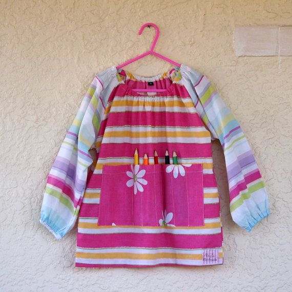 Art smock  M 5-7  Daisy Lane by UtopiaHandmade on Etsy