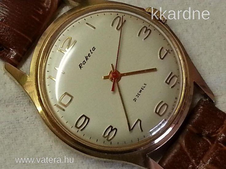 RAKÉTA 21 KÖVES  retro mechanikus karóra - 6990 Ft - Nézd meg Te is Vaterán - Antik férfi karóra - http://www.vatera.hu/item/view/?cod=2223153509