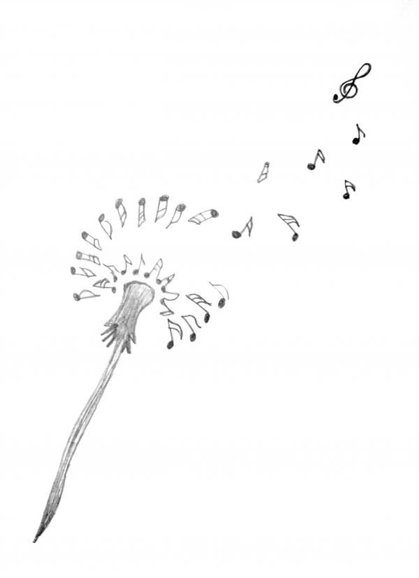 See your tattoo ideas on your body at... www.mynext-tattoo.com  Dandelion Floral Music