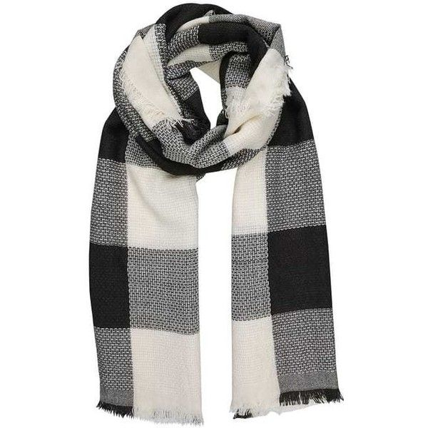 Scarf black/white ($8.83) ❤ liked on Polyvore featuring accessories, scarves, black and white shawl and black and white scarves