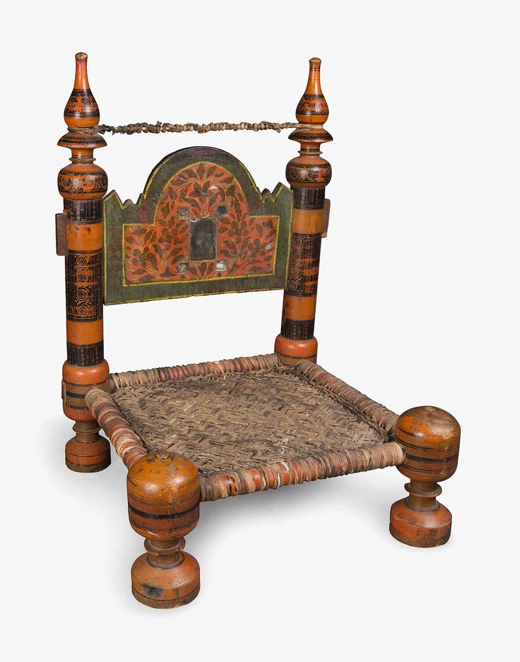Discover Uzbek Painted Wooden Wicker Chair and a whole world of some of the most priceless & exotic goods of human invention, all at Kichy.