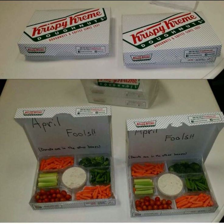 Perfect April fools gag for work--especially for a certain Krispy Kreme loving moocher co-worker of mine that always sniffs out food whenever someone brings something in...