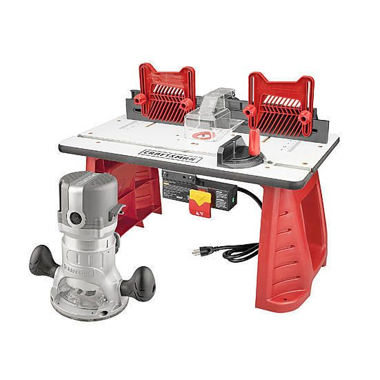 Router and Router Table Combo Adjustable Depths Fences Woodworking Miter Gauge  #RouterTableCombo #Woodworking #Craftsman