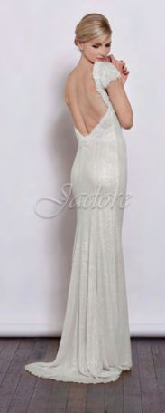 Back view #lowback #bridal #ivory #embellished  https://www.bellebridesmaid.com.au/product/mackenzie/