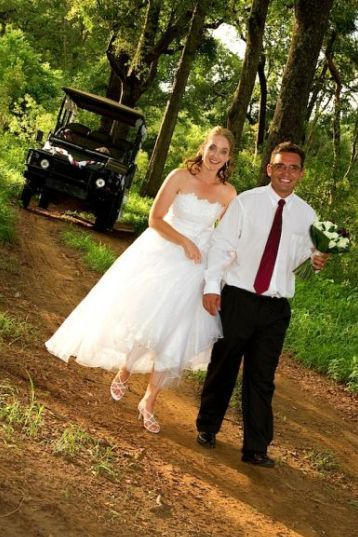 """Romance is the key to any successful wedding and Chisomo Safari Camp provides this in abundance. The ceremony can be held at """"Fig Tree"""" beneath beautiful shady, indigenous trees bordering the Makutzi River. This venue grants you and your guests to a real bush wedding-experience! """"Fig Tree"""" is approx half an hour's drive into the bush and guests will be transported there by our own safari vehicle."""