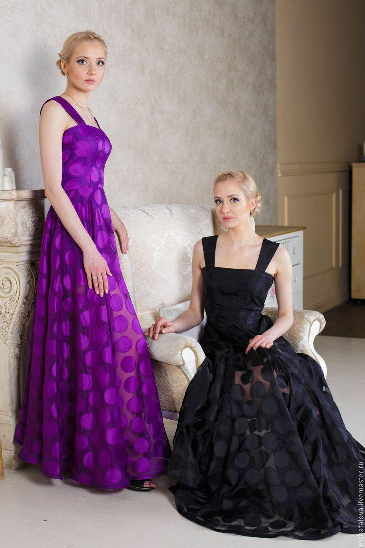 Купить Фиолетовый сарафан из органзы - фиолетовый, фиолетовый сарафан, сарафан летний, сарафан, органза