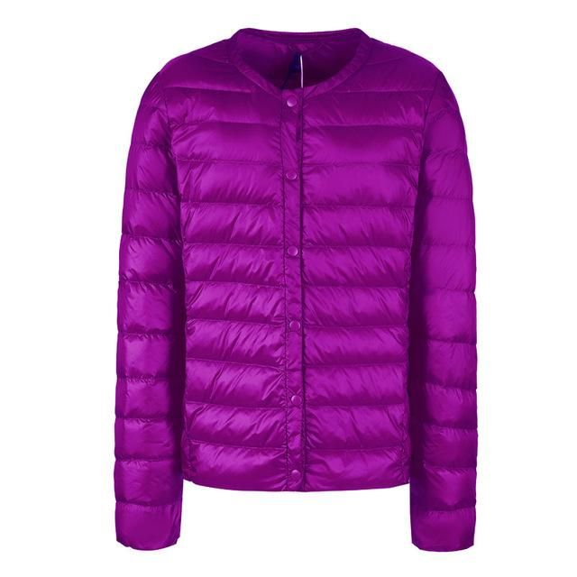 NewBang Down Jacket For Women Ultra Light Down Jacket Thin Slim Windbreaker Female Without Collar Coat Lightweight Warm Parkas