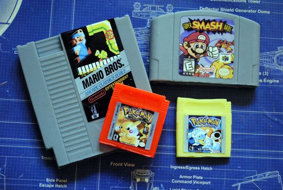 Multi Cart Soap Pack  NES Cart Soap N64 Cart Soap 2 x by NerdySoap