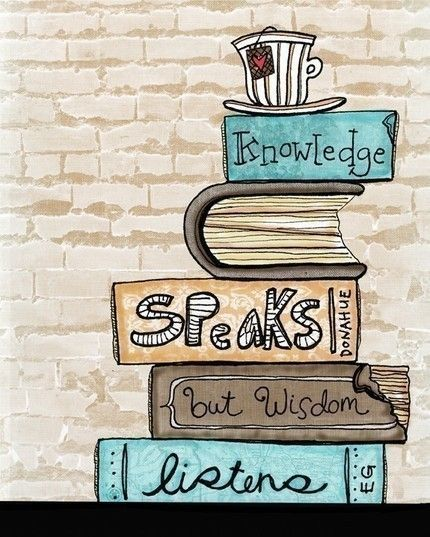 Knowledge speaks but wisdom listens #illustration