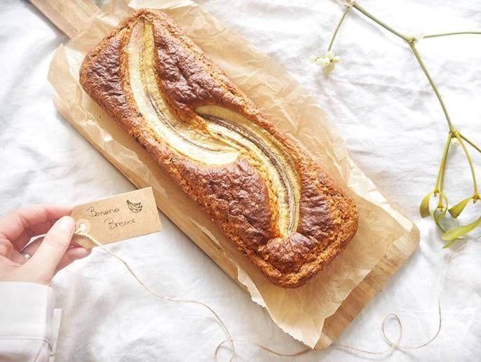 """Banana Bread – med """"pynte banan"""" – hjemmekonditor.dk"""