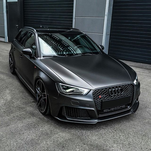 Rs3 Satin Grey Car Wrapping Audi Rs3 Audi A3