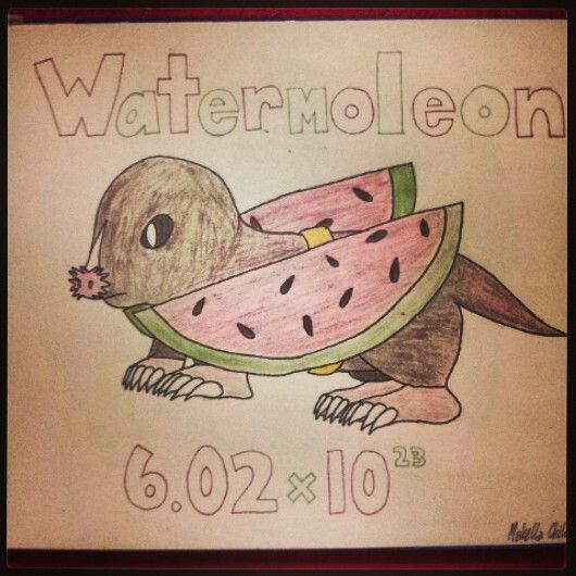 Mole Day Pun: Watermoleon                                                                                                                                                                                 More