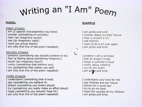 How To Write An I Am Poem