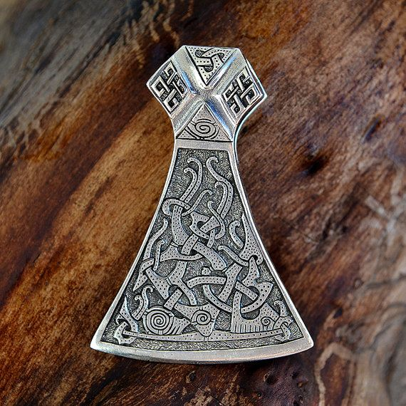 legendary viking mammen axe pendant mammen style large axe sekira viking nordic talisman. Black Bedroom Furniture Sets. Home Design Ideas