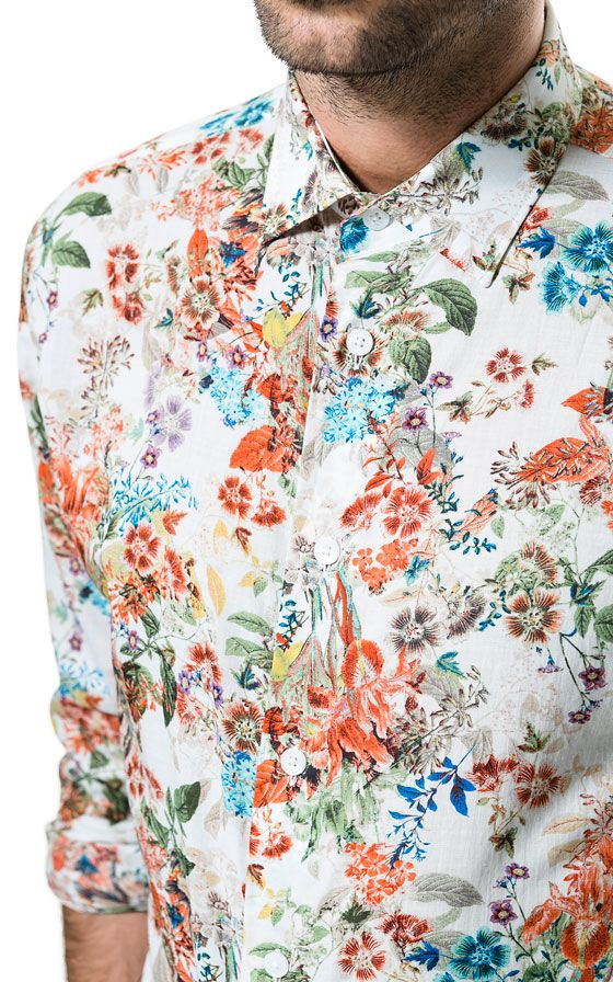 41 best images about printed shirt on pinterest casual for Zara mens floral shirt
